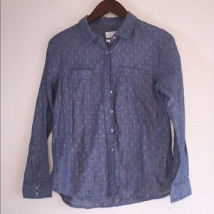 Caslon button down blue and pink size medium